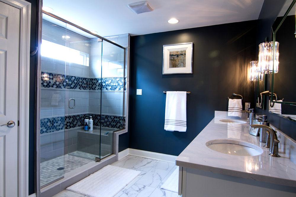 Sewickley-Ridge-by-LMNTL-DSGN Blå badrumsidéer.  Design, dekor och tillbehör