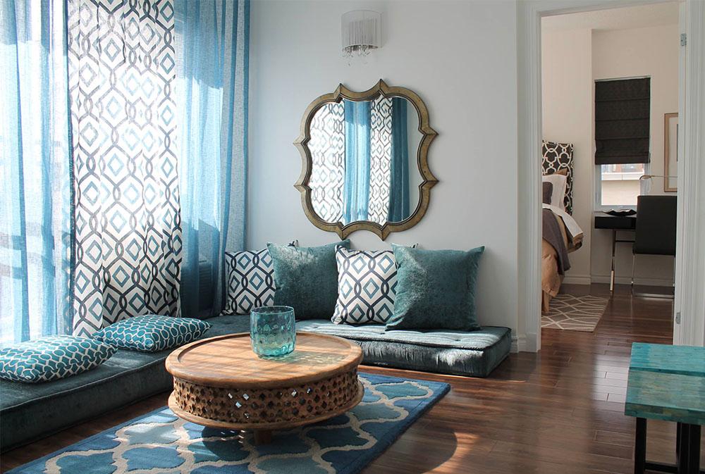 MAROCKAN-INSPIRERAD-LÄGENHET-2013-av-Rebecca-Mitchell-Interiors Golvkuddar: vackra tillbehör till ditt vardagsrum