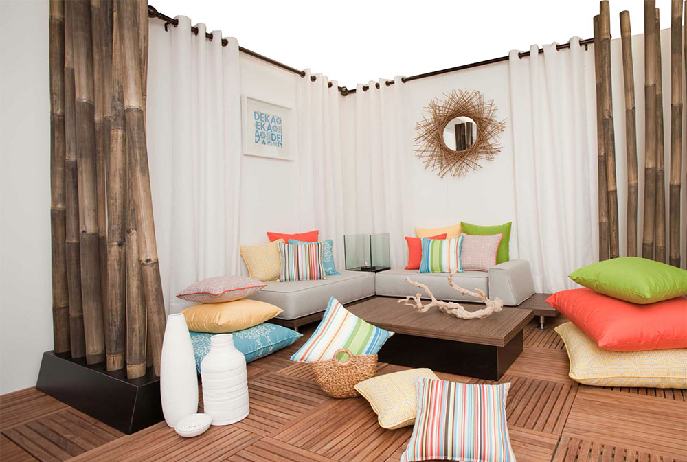 Outdoor-Living-Vignette-von-DEKA-Home-Patio golvkuddar: vackra tillbehör till ditt vardagsrum