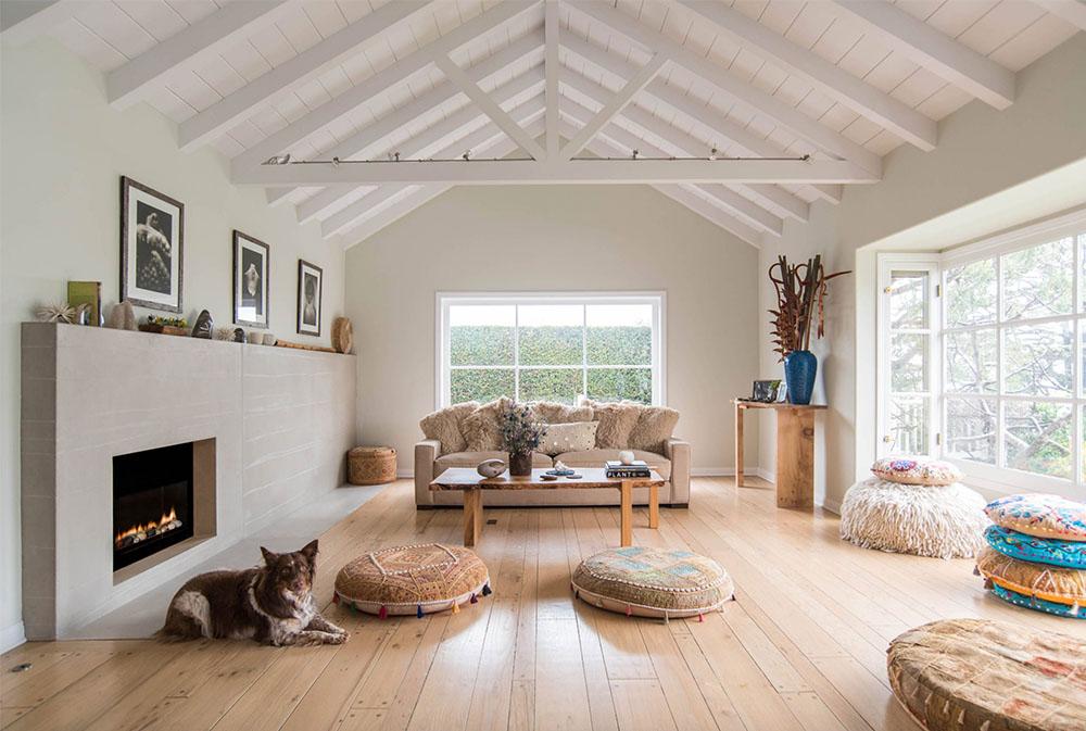 Peaceful Palisade Living Room av Sarah Barnard Design Golvkuddar: Trevliga tillbehör till ditt vardagsrum