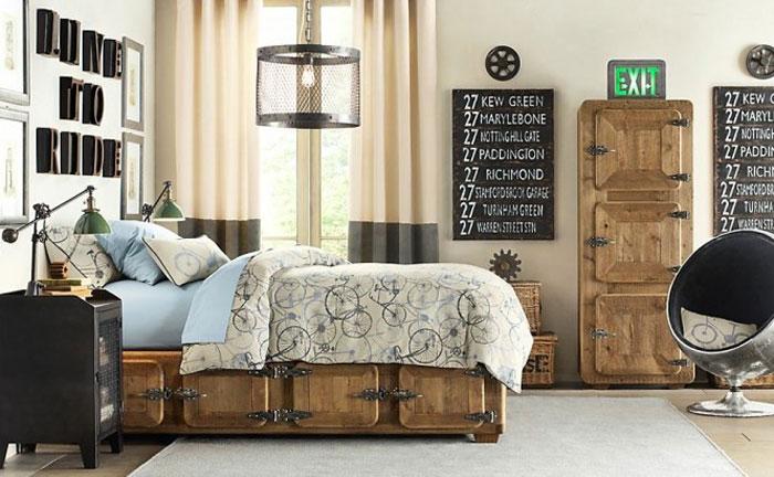 69800400089 Idéer för att dekorera ditt sovrum i industriell stil