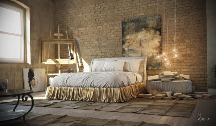 69800357029 Idéer för att designa ditt sovrum i industriell stil