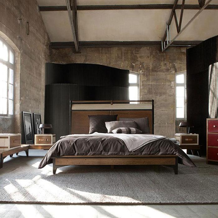 69800385854 Idéer för att dekorera ditt sovrum i industriell stil