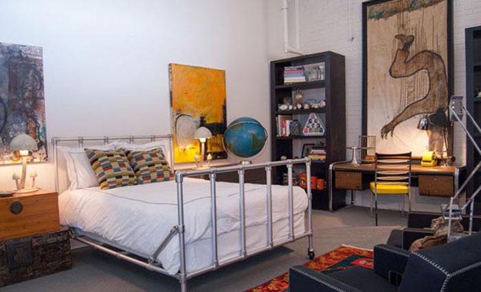 69800217775 Idéer för att dekorera ditt sovrum i industriell stil
