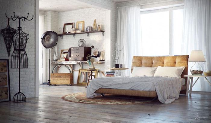 69800347161 Idéer för att dekorera ditt sovrum i industriell stil