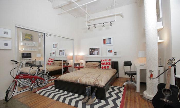 69795308548 Idéer för att designa ditt sovrum i industriell stil
