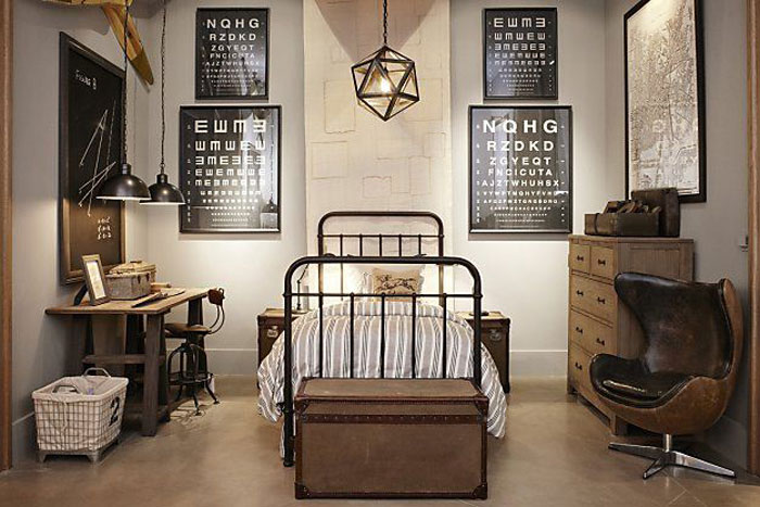 69800283959 Idéer för att dekorera ditt sovrum i industriell stil