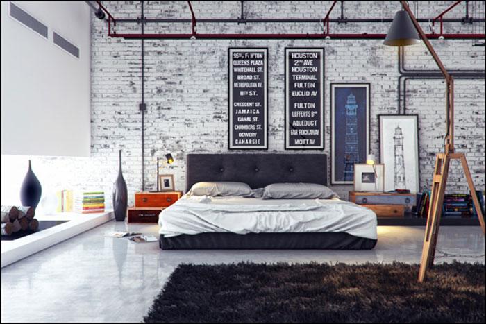 69800323799 Idéer för att dekorera ditt sovrum i industriell stil