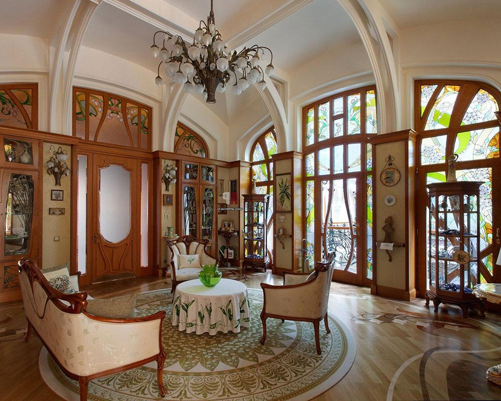 Art Nouveau-interiör-design-med-sin-stil-dekor-och-färger-3 Art Nouveau-interiör design med sin stil, dekor och färger