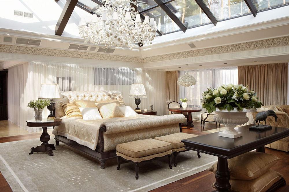 Art Nouveau sovrum interiördesign Art Nouveau interiör design med sin stil, inredning och färger