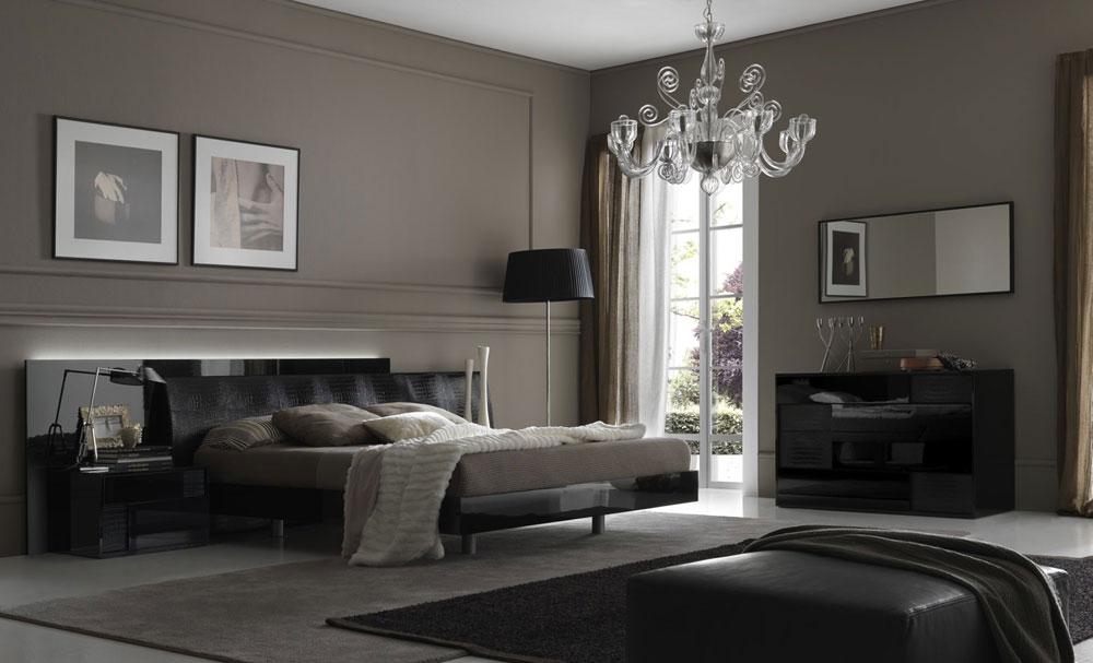 Olika skuggor av det grå sovrummet färgar idéer och tekniker