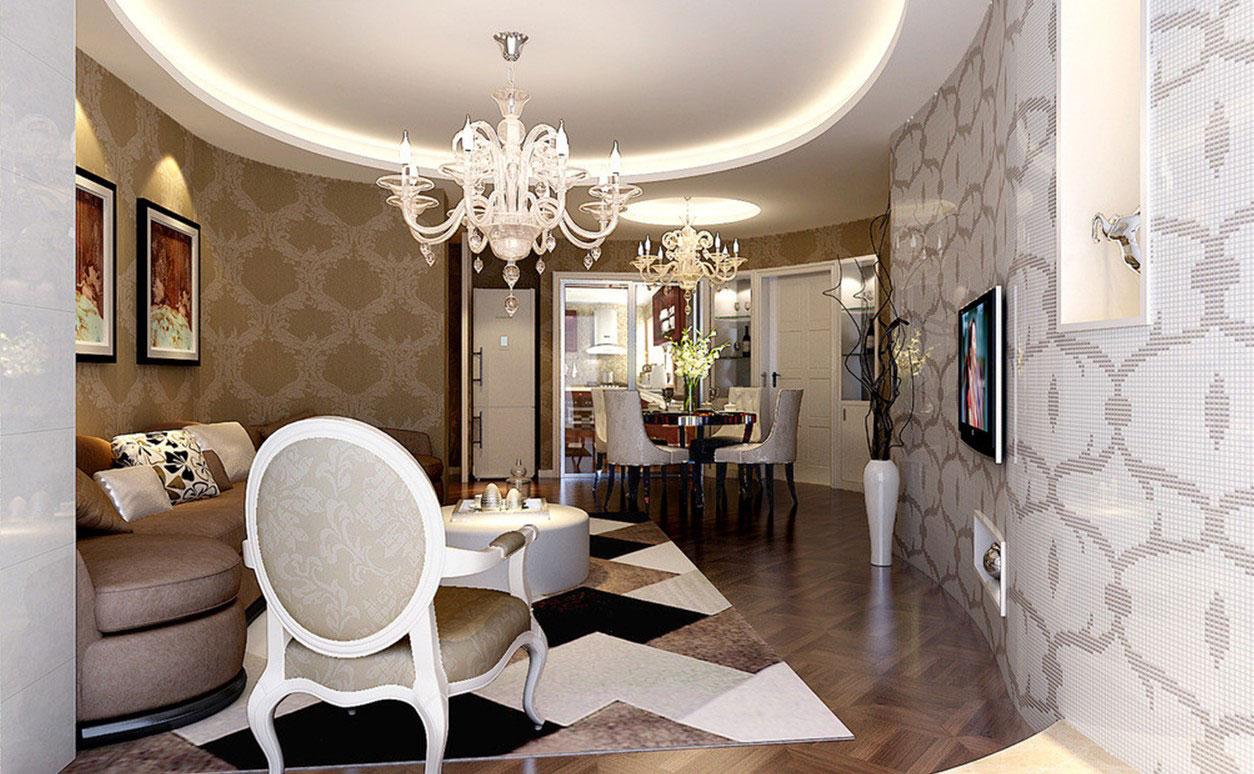 Living-and-dining-interior-design-11 exempel på living-dining-room interiördesign att kolla in