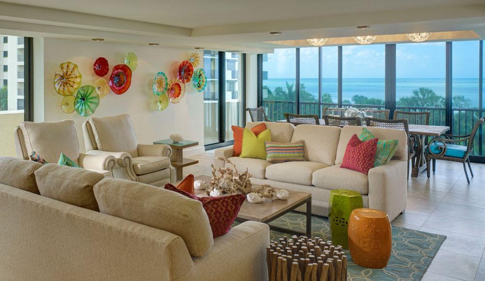 Vanderbilt-Beach-Renovation-LAURA-MILLER-Interior-Design Ljusa och livliga tropiska färgscheman