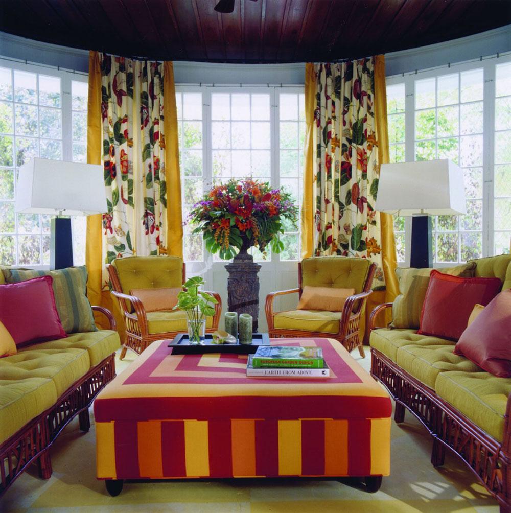Hinsdale-Porch-Kreitinger-Design Ljusa och livliga tropiska färgscheman