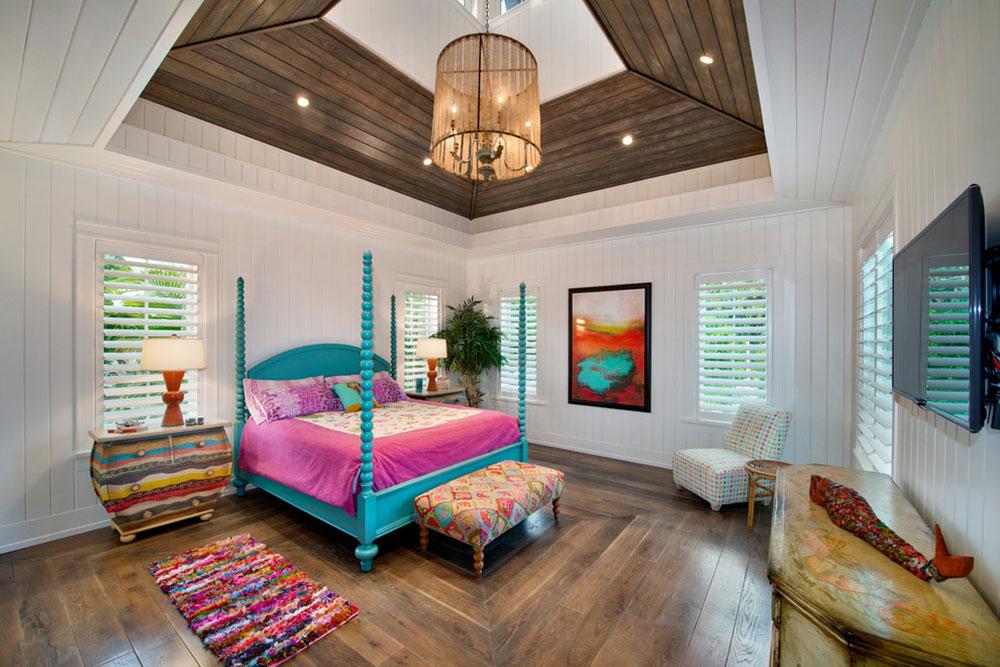 Guestroom-Weber-Design-Group-Inc.  Ljusa och levande tropiska färgscheman
