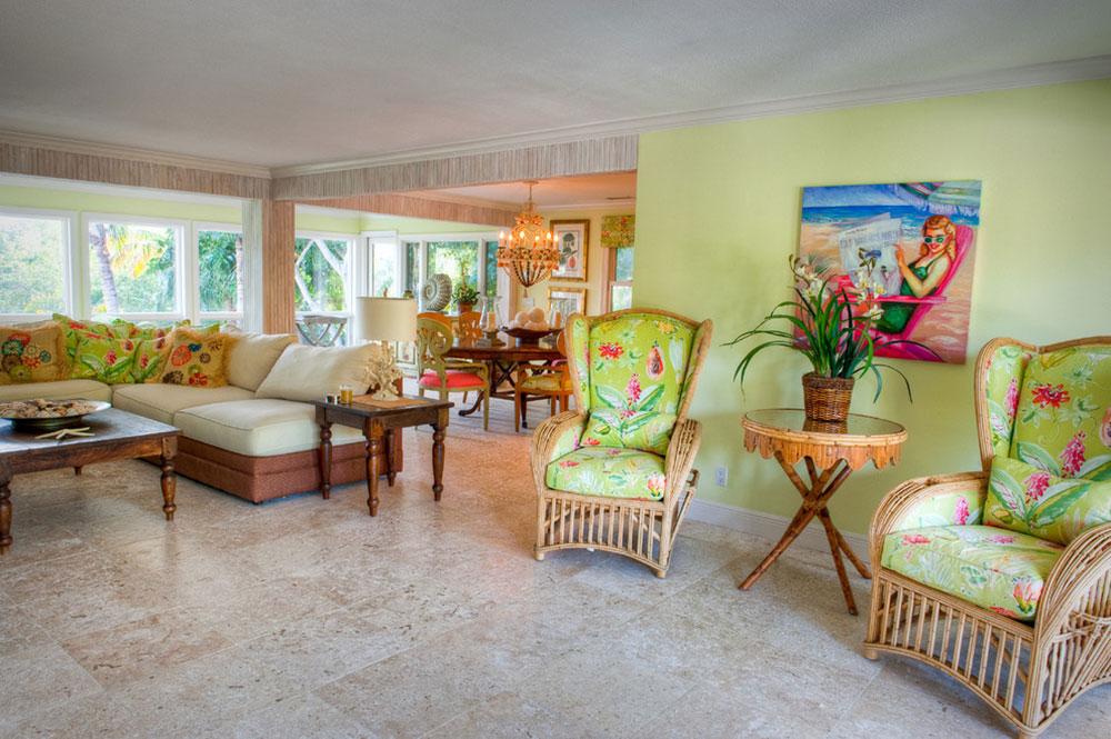 Captiva-Bayside-Residence-Alair-Homes-Sanibel Ljusa och levande tropiska färgscheman