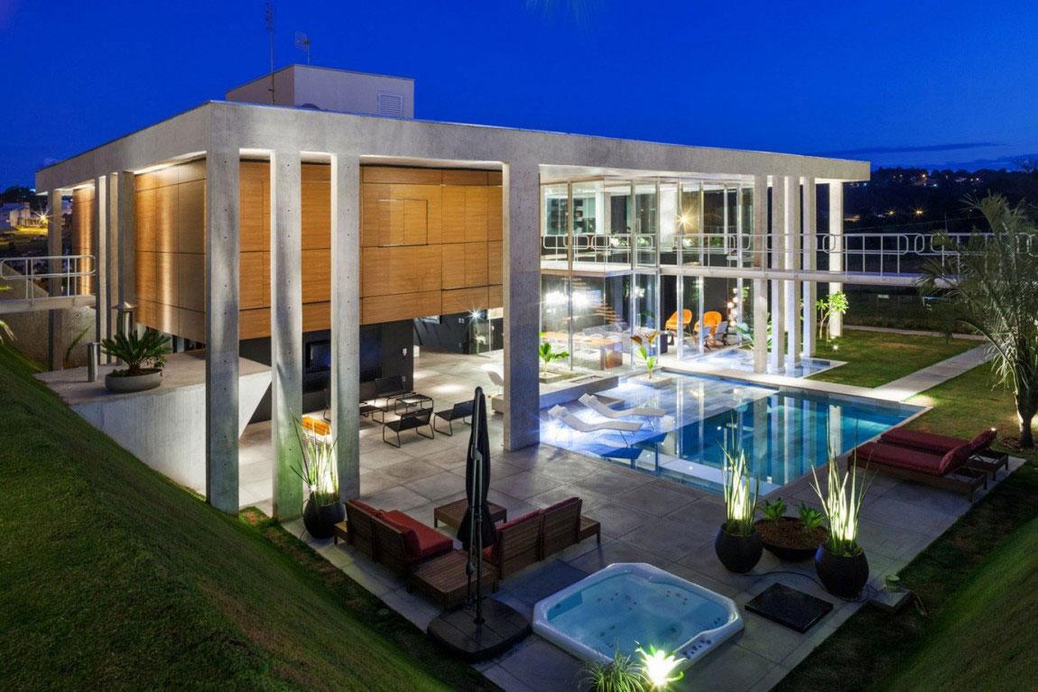 Botucatu House står som ett arkitektoniskt mästerverk 16 Botucatu House står som ett arkitektoniskt mästerverk