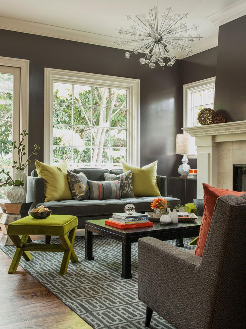 Funky-och-roligt-vardagsrum-av-Ann-Lowengart-Interiors-2 Liten lägenhet vardagsrum idéer på en budget