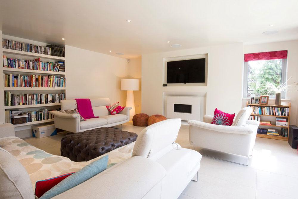 Hem för konstälskare av Brunskill designidéer för små vardagsrum med låg budget
