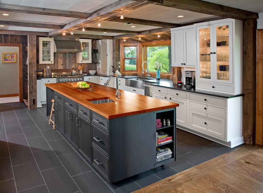 Modern-Industrial-Kitchen-by-Rost-Artisan-Builders Idéer för industrikök: skåp, hyllor, stolar och belysning