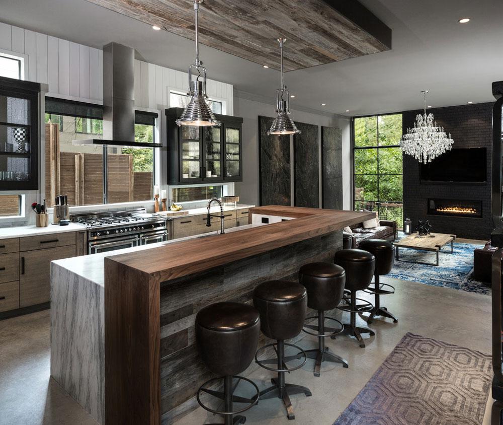 Sunnyland-Residence-by-Rosewood-Custom-Builders Idéer för industrikök: skåp, hyllor, stolar och belysning