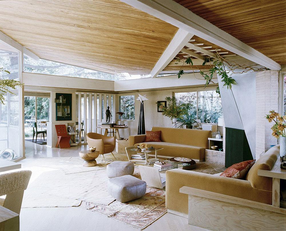 60-tals trender för interiördesign för 2019 i Kalifornien