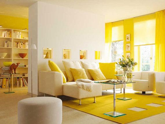 y10 Exempel på rum designade och dekorerade med gult