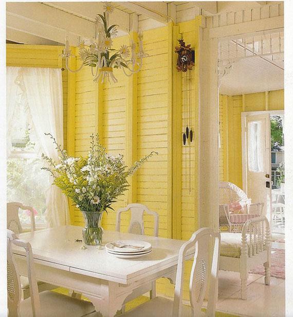 y34 Exempel på rum designade och dekorerade med gult