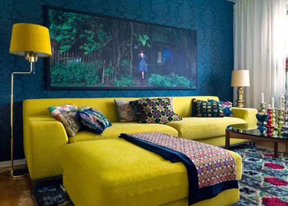 y6 Exempel på rum designade och dekorerade med gult