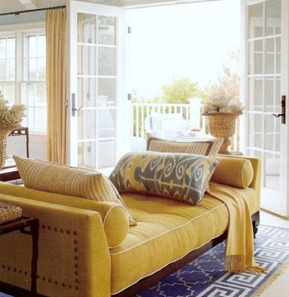 y32 Exempel på rum designade och dekorerade med gult