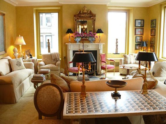 y2 Exempel på rum designade och dekorerade med gult
