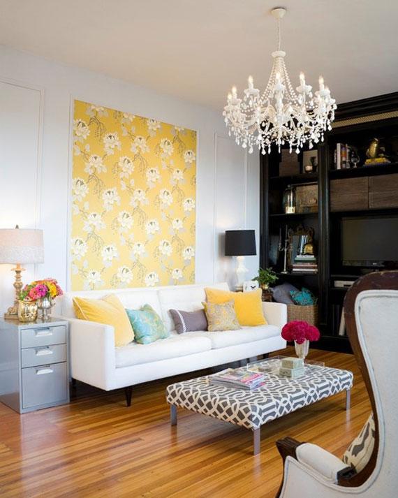 y22 Exempel på rum designade och dekorerade med gult