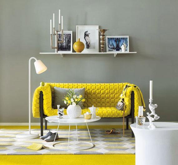 y15 Exempel på rum designade och dekorerade med gult