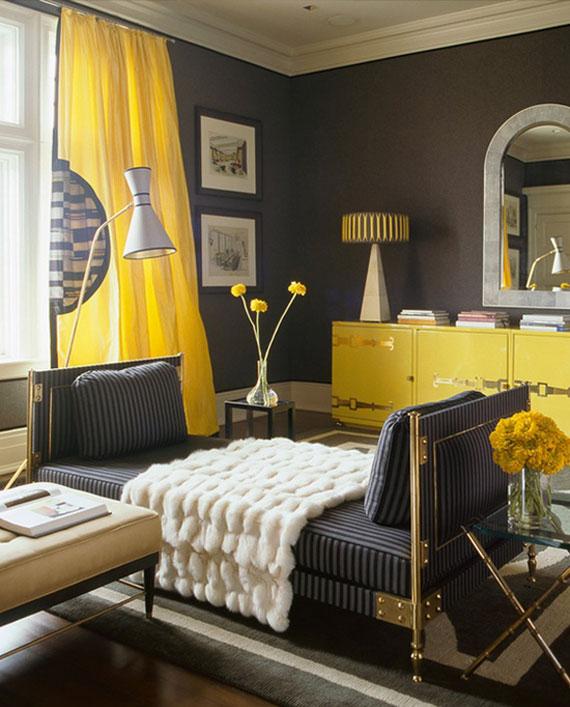 y31 Exempel på rum designade och dekorerade med gult