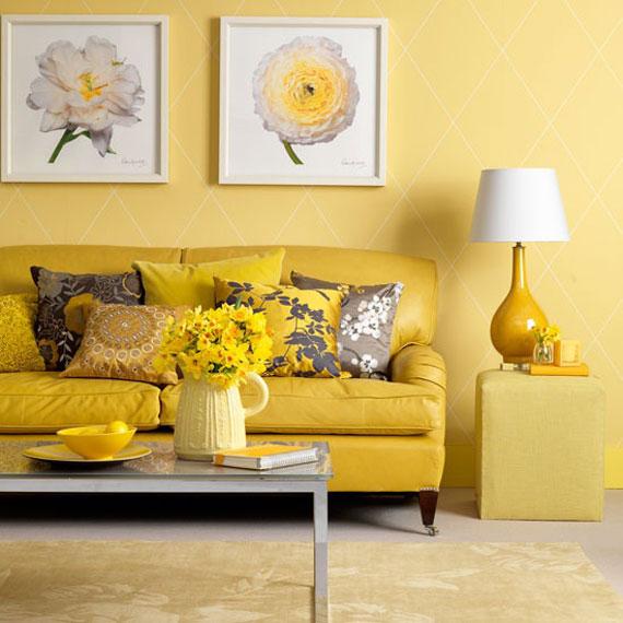 y8 Exempel på rum designade och dekorerade med gult