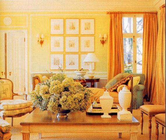 y4 Exempel på rum designade och dekorerade med gult