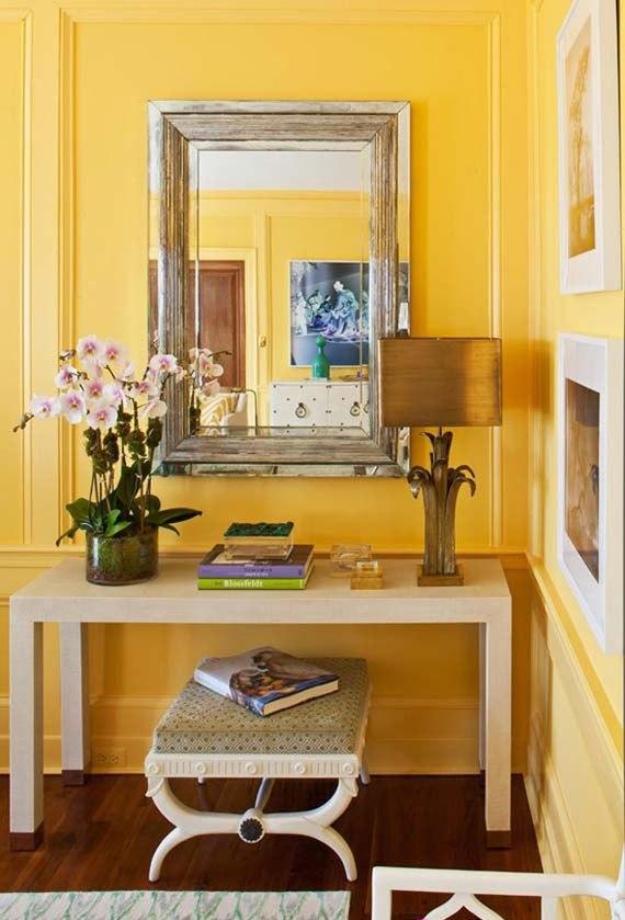 y17 Exempel på rum designade och dekorerade med gult
