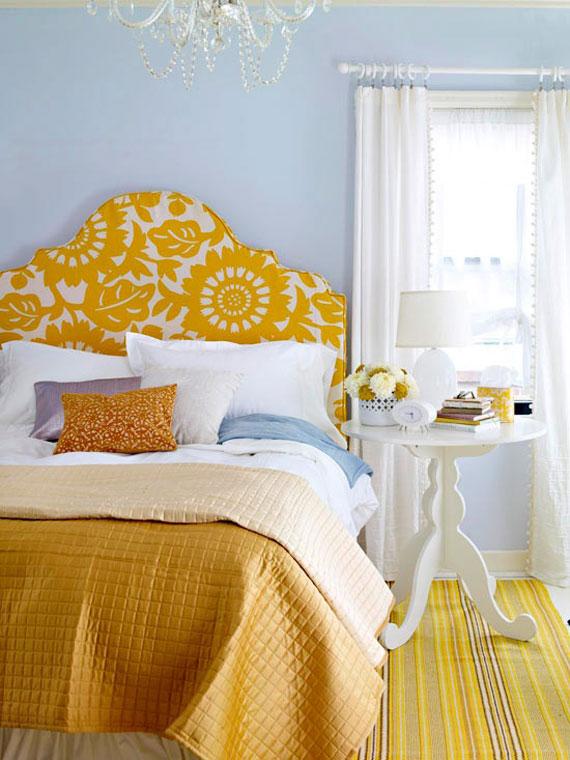 y7 Exempel på rum designade och dekorerade med gult