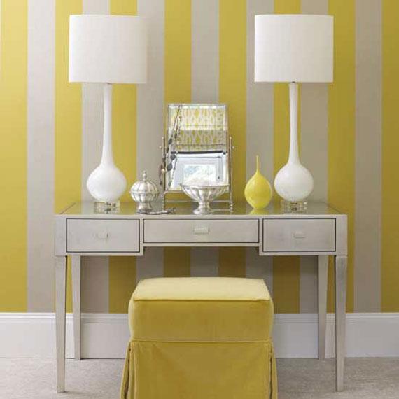 y33 Exempel på rum designade och dekorerade med gult