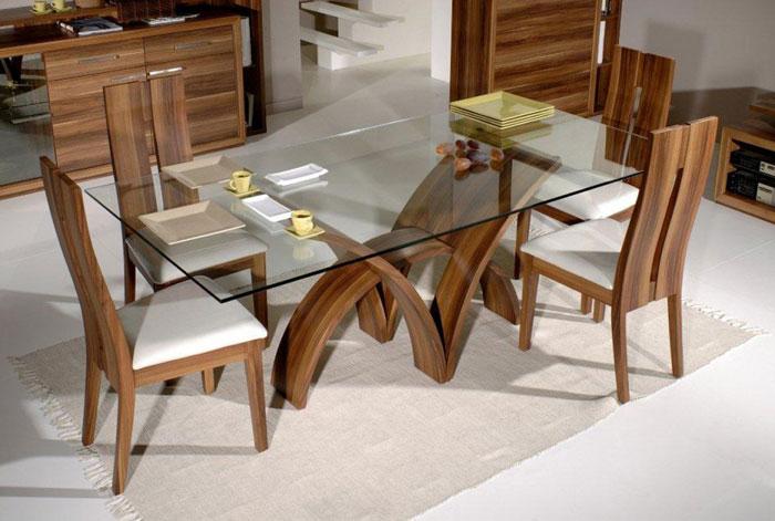67958736143 Matbord av glas ger din interiör en modern touch