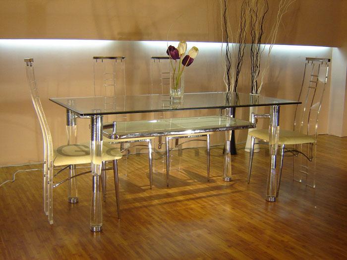 67958621249 Glass matbord för att ge din interiör en modern touch