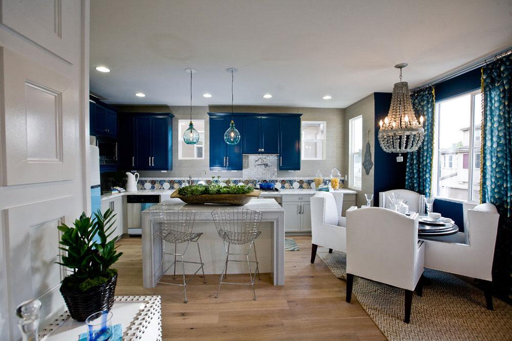 HGTV-Showhouse-Showdown-by-Lulu-Designs Blue Kitchen Ideas: Skåp, väggar och diskbänkar