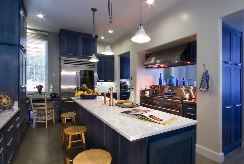 Mesa-View-Residence-Arroyo-by-Leonard-Grant-Architektur Blå köksidéer: skåp, väggar och diskar