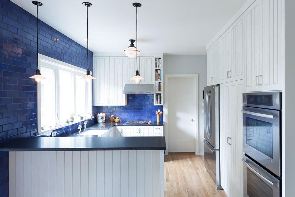 Alameda-Kitchen-Remodel-by-Howells-Architektur-Design-LLC Blå kökidéer: skåp, väggar och diskar
