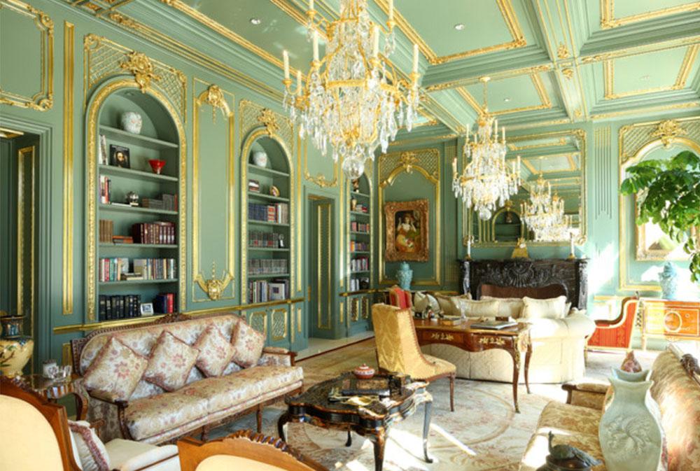 Beverly-Hills-traditionell stil-herrgård-av-MI-Design-Inc-gröna vardagsrumsidéer: väggar, stolar, färg