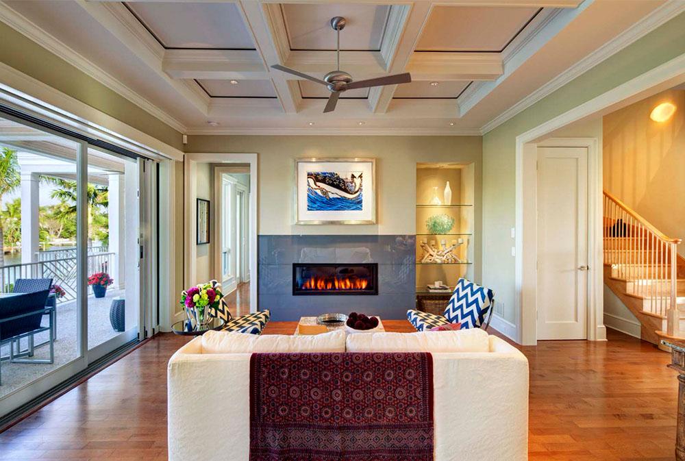 Lido-Tropical-av-Clifford-M.-Scholz-Architects-Inc Idéer för ett grönt vardagsrum: väggar, stolar, färg