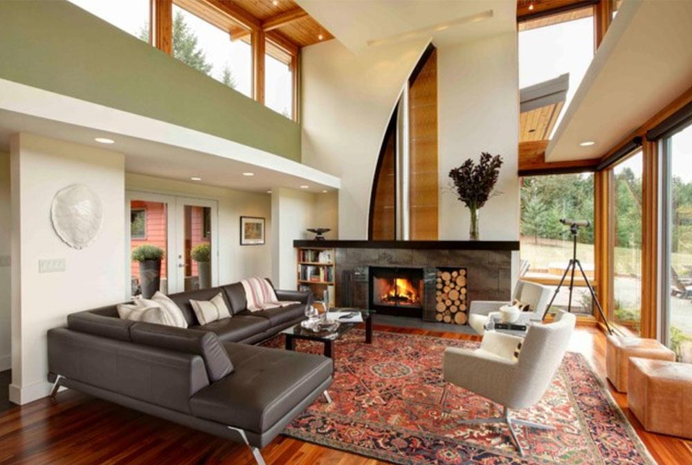 Modern-Portland-ny-konstruktion-vardagsrum-av-Kraft-anpassad-konstruktion-gröna vardagsrumsidéer: väggar, stolar, färg