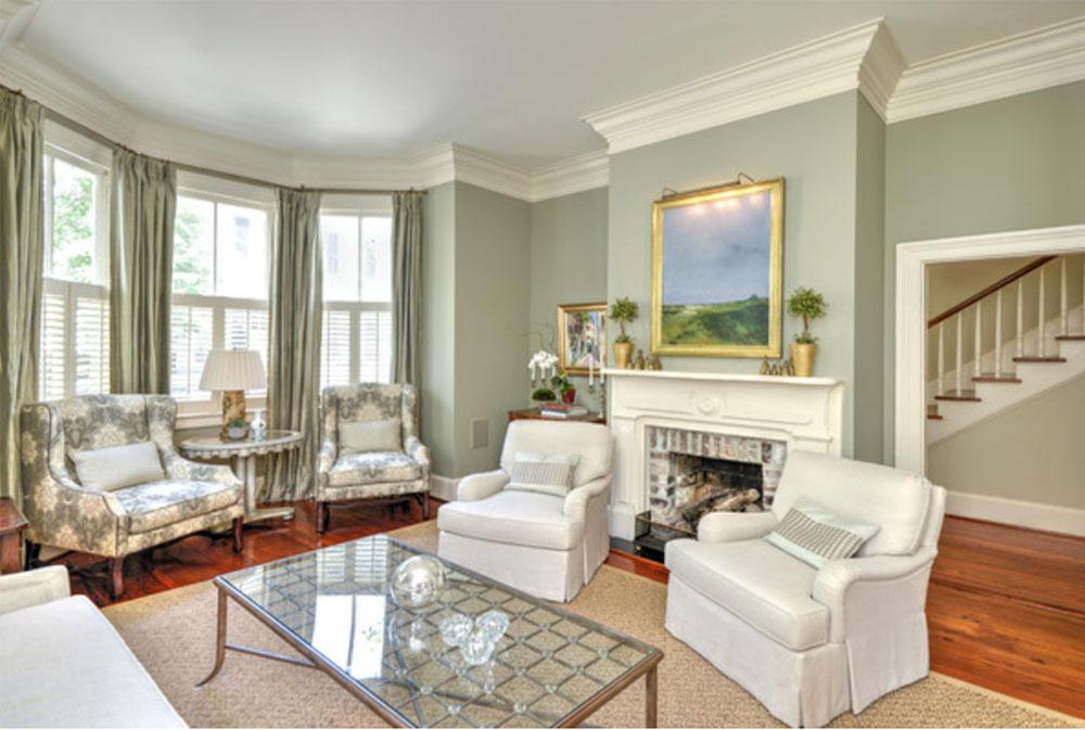 Johns-Island-Residence-of-Priests-Custom-Contracting-LLC Green Living Room Ideas: Walls, Stolar, Paint