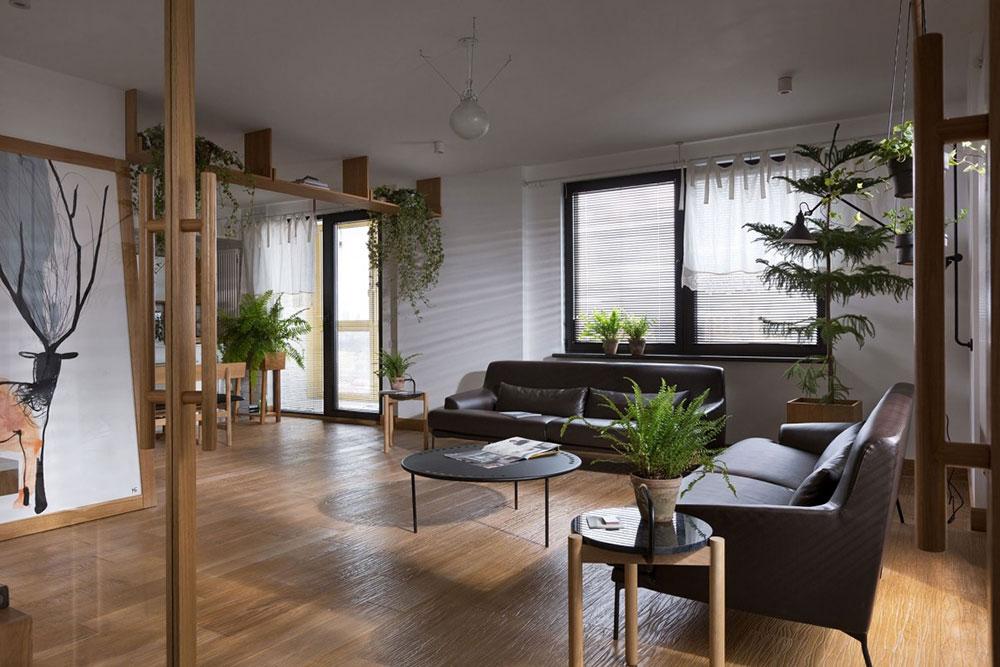 1-lägenhet-växter-luftrening Hur växter integreras i en lägenhet