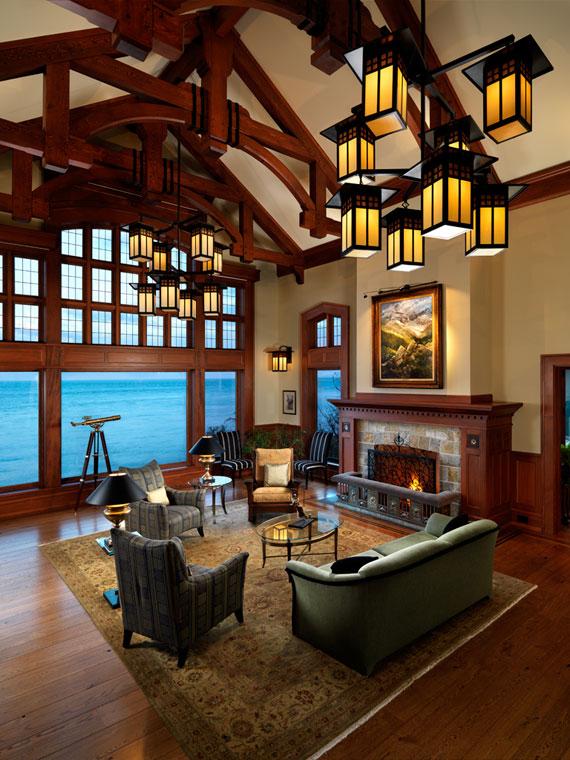 v22 Maclure-stil Ocean-Front Home Windward Oaks av Michael Knight